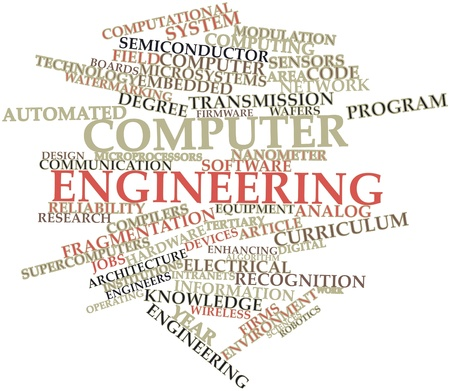 examples: Abstract word cloud for Computer engineering with related tags and terms