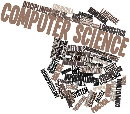 evaluative: Abstract word cloud for Computer science with related tags and terms