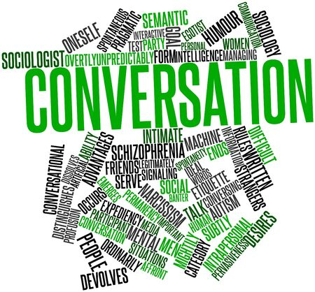 strangers: Abstract word cloud for Conversation with related tags and terms