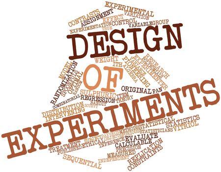observational: Nube de palabras abstracto para el dise�o de experimentos con las etiquetas y t�rminos relacionados