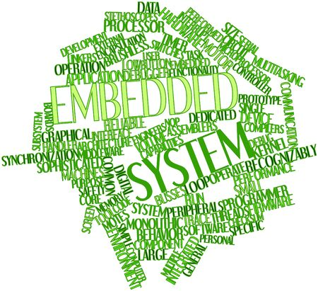 middleware: Abstract word cloud for Embedded system with related tags and terms Stock Photo