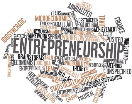 iniciativas: Nube palabra abstracta para el Emprendimiento con las etiquetas y t�rminos relacionados