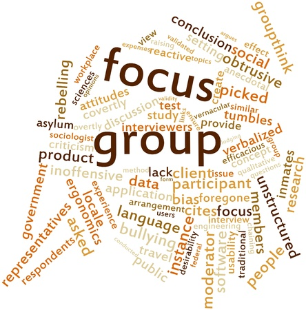 Abstract word cloud for Focus group with related tags and terms Stock Photo - 16414359