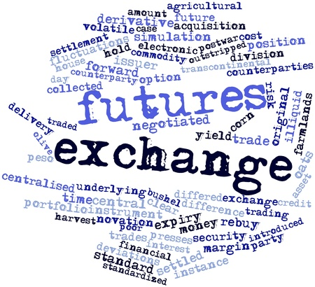 settled: Abstract word cloud for Futures exchange with related tags and terms