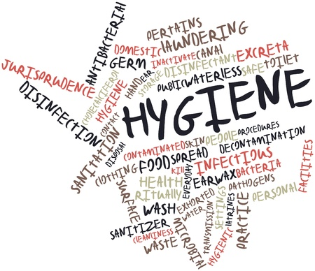 excreta: Abstract word cloud for Hygiene with related tags and terms