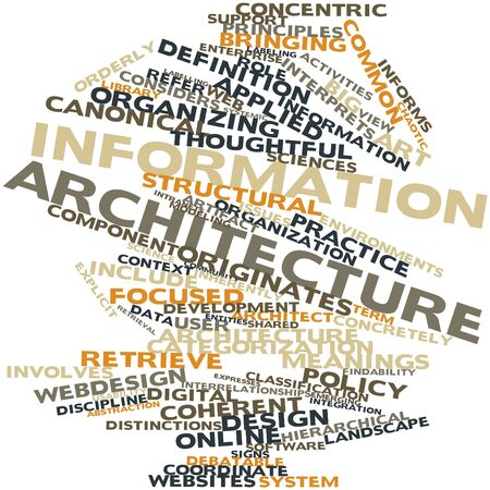 enterprise: Abstract word cloud for Information architecture with related tags and terms Stock Photo