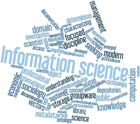 Abstract word cloud for Information science with related tags and terms Stock Photo - 16414144
