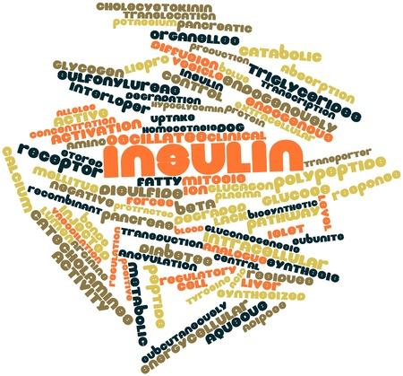triglycerides: Nube palabra abstracta para insulina con etiquetas y t�rminos relacionados Foto de archivo