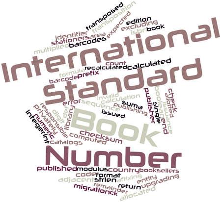 transpozycji: Abstract cloud słowo Międzynarodowy znormalizowany numer książki z pokrewnymi tagów oraz warunków