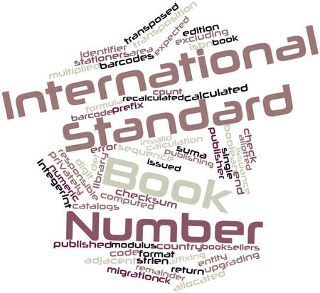 transposition: Abstract word cloud for International Standard Book Number with related tags and terms Stock Photo