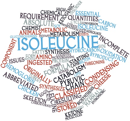 Abstract word cloud for Isoleucine with related tags and terms Stock Photo - 16414160