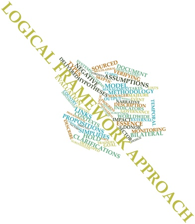 Abstract word cloud for Logical framework approach with related tags and terms Stock Photo - 16413640