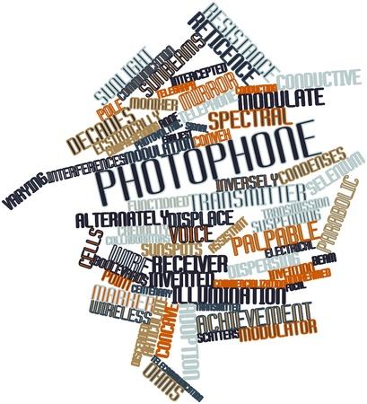 modulation: Abstract word cloud for Photophone with related tags and terms