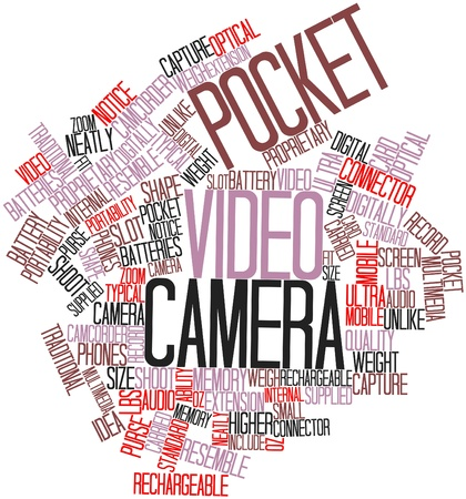 portability: Abstract word cloud for Pocket video camera with related tags and terms