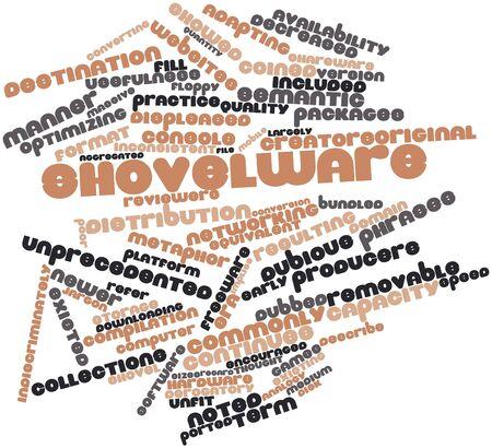ported: Nube palabra abstracta para Shovelware con etiquetas y t�rminos relacionados