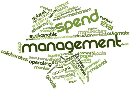 Abstract word cloud for Spend management with related tags and terms
