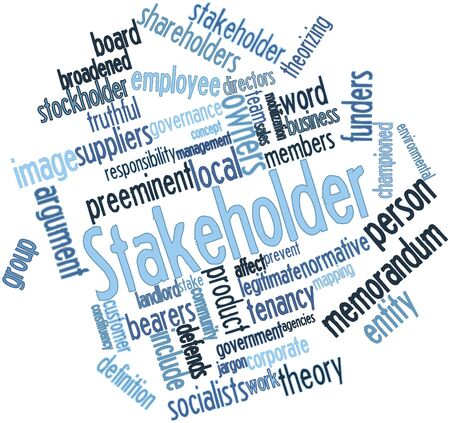 stockholder: Abstract word cloud for Stakeholder with related tags and terms