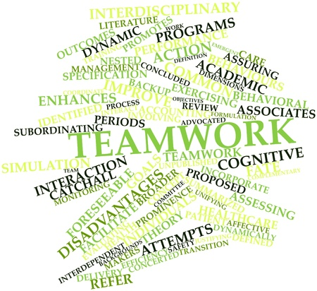 broader: Abstract word cloud for Teamwork with related tags and terms