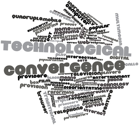 convergence: Abstract word cloud for Technological convergence with related tags and terms
