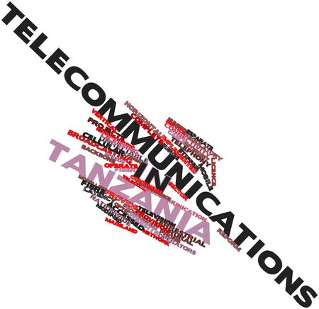 unreliable: Abstract word cloud for Telecommunications in Tanzania with related tags and terms
