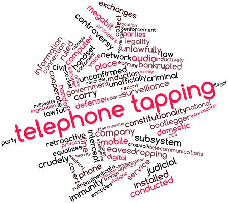 ruling: Abstract word cloud for Telephone tapping with related tags and terms
