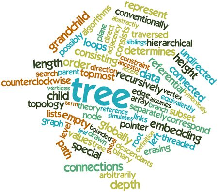 Abstract word cloud for Tree with related tags and terms Stock Photo - 16414399