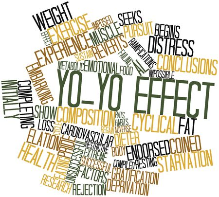 metabolic: Abstract word cloud for Yo-yo effect with related tags and terms Stock Photo