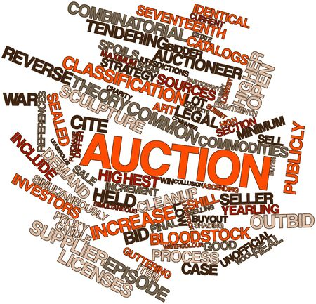 Abstract word cloud for Auction with related tags and terms Stock Photo - 16414011