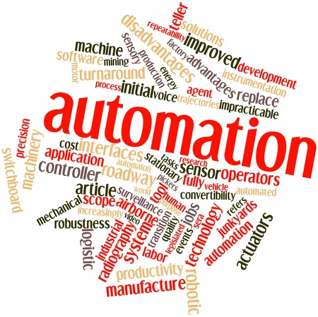 role: Abstract word cloud for Automation with related tags and terms