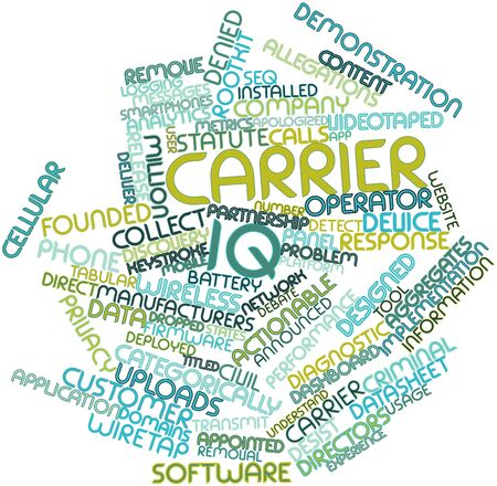 Abstract word cloud for Carrier IQ with related tags and terms