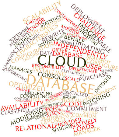 rewrite: Abstract word cloud for Cloud database with related tags and terms