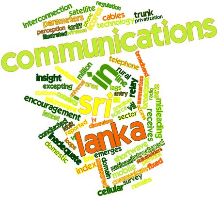 conducted: Abstract word cloud for Communications in Sri Lanka with related tags and terms