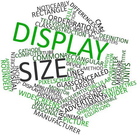 alumnos en clase: Nube palabra abstracta para el tamaño de pantalla con las etiquetas y términos relacionados