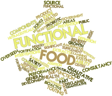 functional: Abstract word cloud for Functional food with related tags and terms