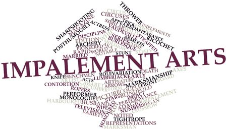 Abstract word cloud for Impalement arts with related tags and terms Stock Photo - 16413726