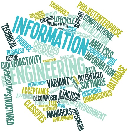 Abstract word cloud for Information engineering with related tags and terms