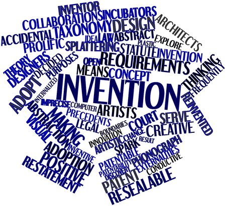 prolific: Abstract word cloud for Invention with related tags and terms Stock Photo