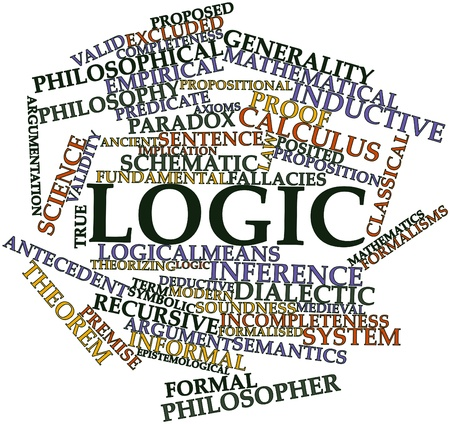 Abstract word cloud for Logic with related tags and terms