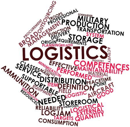 postgraduate: Abstract word cloud for Logistics with related tags and terms