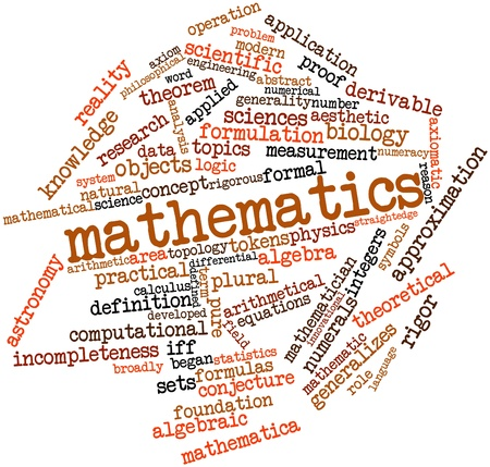 plural: Abstract word cloud for Mathematics with related tags and terms
