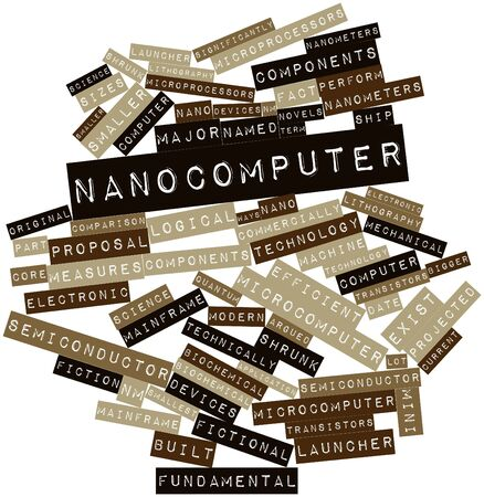Abstract word cloud for Nanocomputer with related tags and terms Stock Photo - 16414305