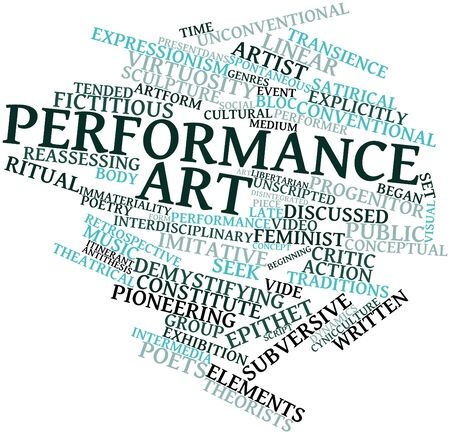 Abstract word cloud for Performance art with related tags and terms Stock Photo - 16414237