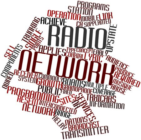 marketed: Abstract word cloud for Radio network with related tags and terms