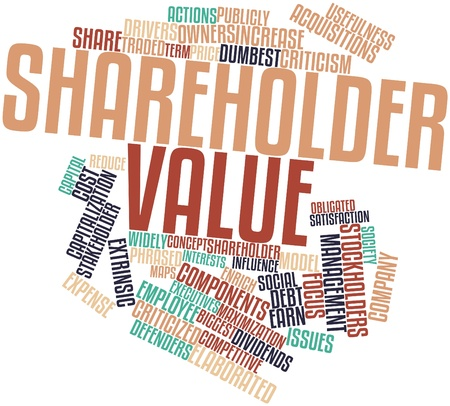 enrich: Abstract word cloud for Shareholder value with related tags and terms
