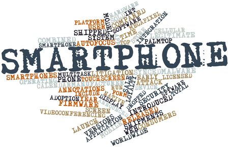 Abstract word cloud for Smartphone with related tags and terms Stock Photo - 16413971