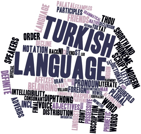 Abstract word cloud for Turkish language with related tags and terms Stock Photo - 16414360