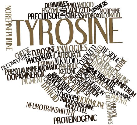 casein: Abstract word cloud for Tyrosine with related tags and terms