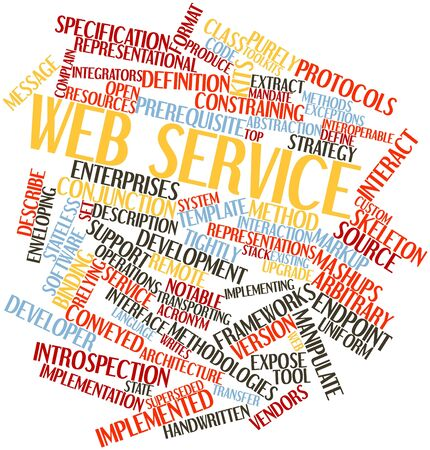 Abstract word cloud for Web service with related tags and terms Stock Photo - 16414038