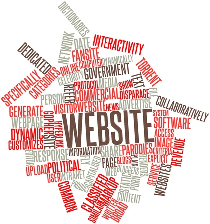 realtime: Abstract word cloud for Website with related tags and terms Stock Photo