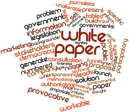 Abstract word cloud for White paper with related tags and terms photo